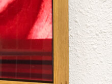 Shadow frame with Diasec 10x40mm oak profile with 5mm gap